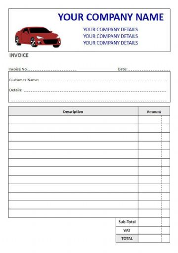 Mechanics NCR Invoice Pads & Sets, 2 Column Lined + VAT Box